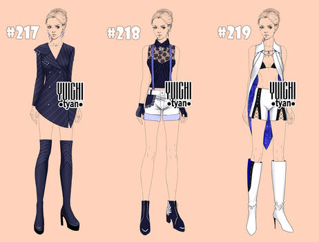 [1/3open] famale adopt Outfits(217-219)