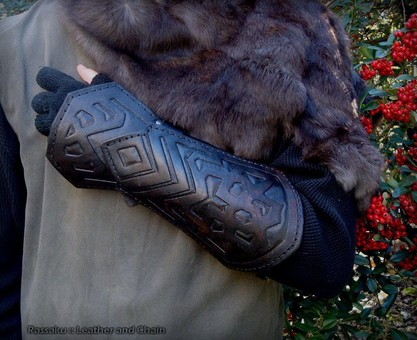 Thorin Oakenshield Bracers - Hobbit Movie Costume by rassaku
