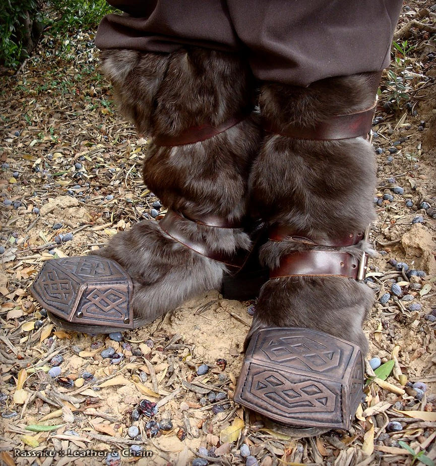 Thorin Boot Caps - Hobbit Movie Costume by rassaku