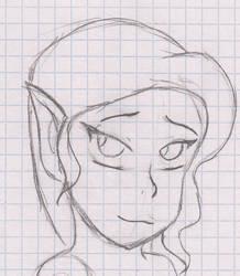 Shy elf sketch