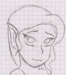 Shy elf sketch
