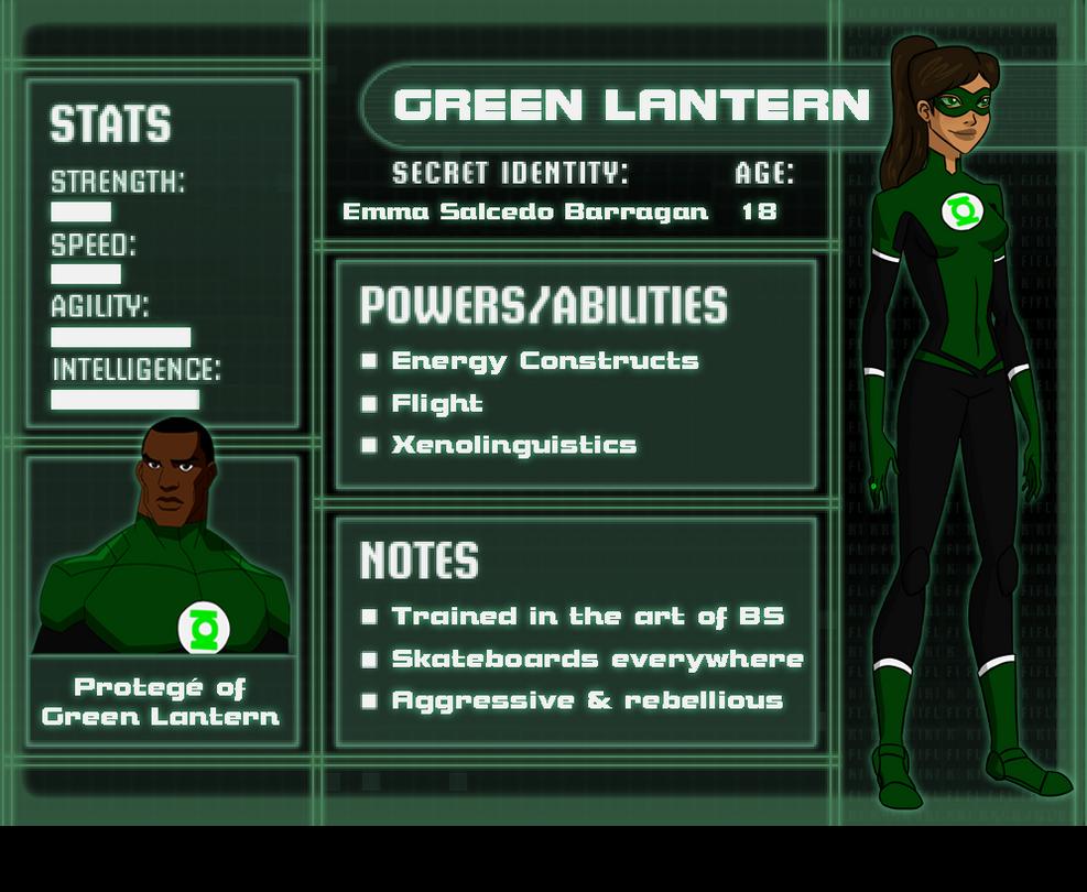 YJ OC: Emma Salcedo Barragan/Green Lantern by anakluxmos on DeviantArt