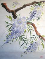 Windblown Wisteria by liralenli