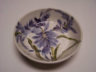Bearded Iris Bowl by liralenli