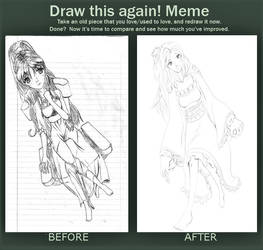 Before and After Meme: Girl in Chair 2021