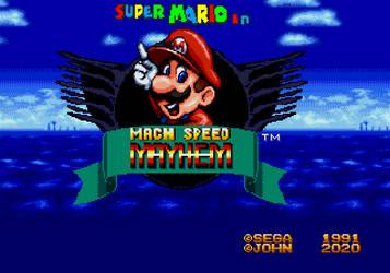 Super Mario in Mach Speed Mayhem Title Concept