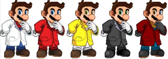 Casual Dr. Mario Recolors (Happy Mar10 Day!)