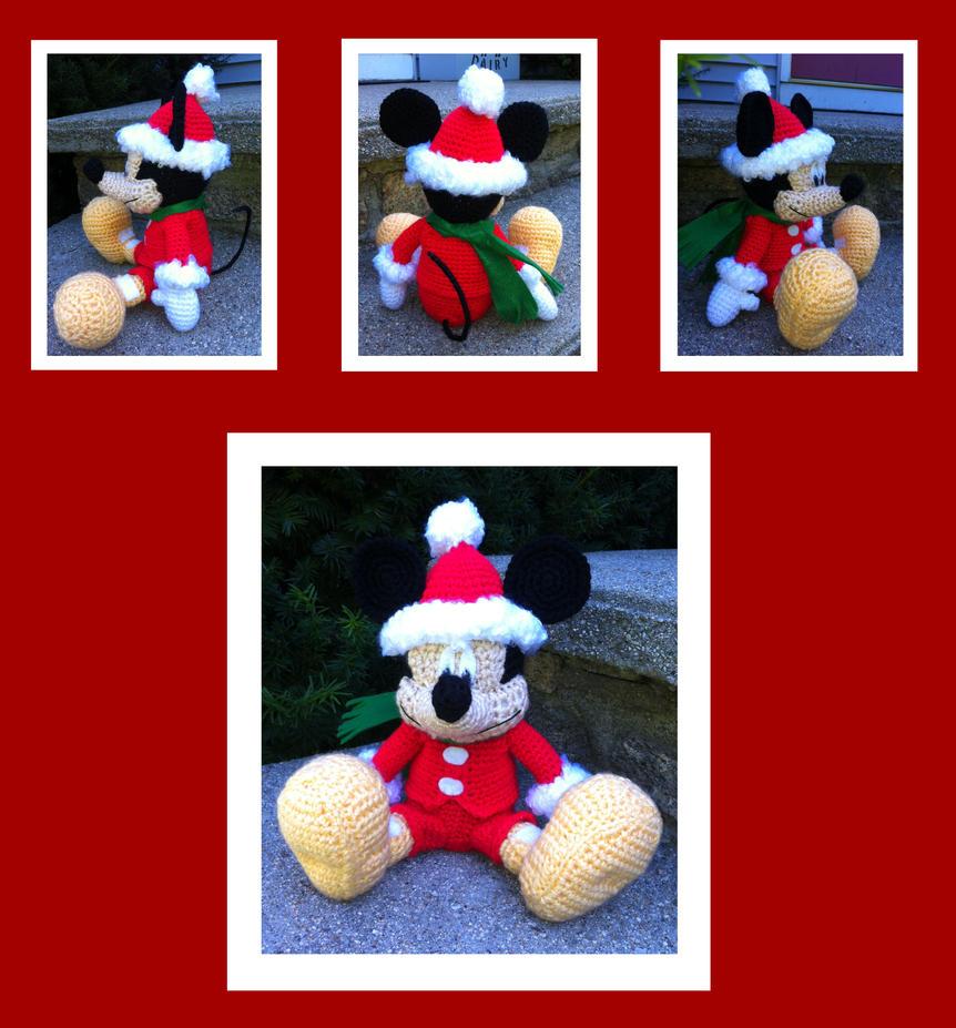 Mickey Mouse Amigurumi Schema : Christmas Mickey Mouse Amigurumi by DarkWater9 on DeviantArt