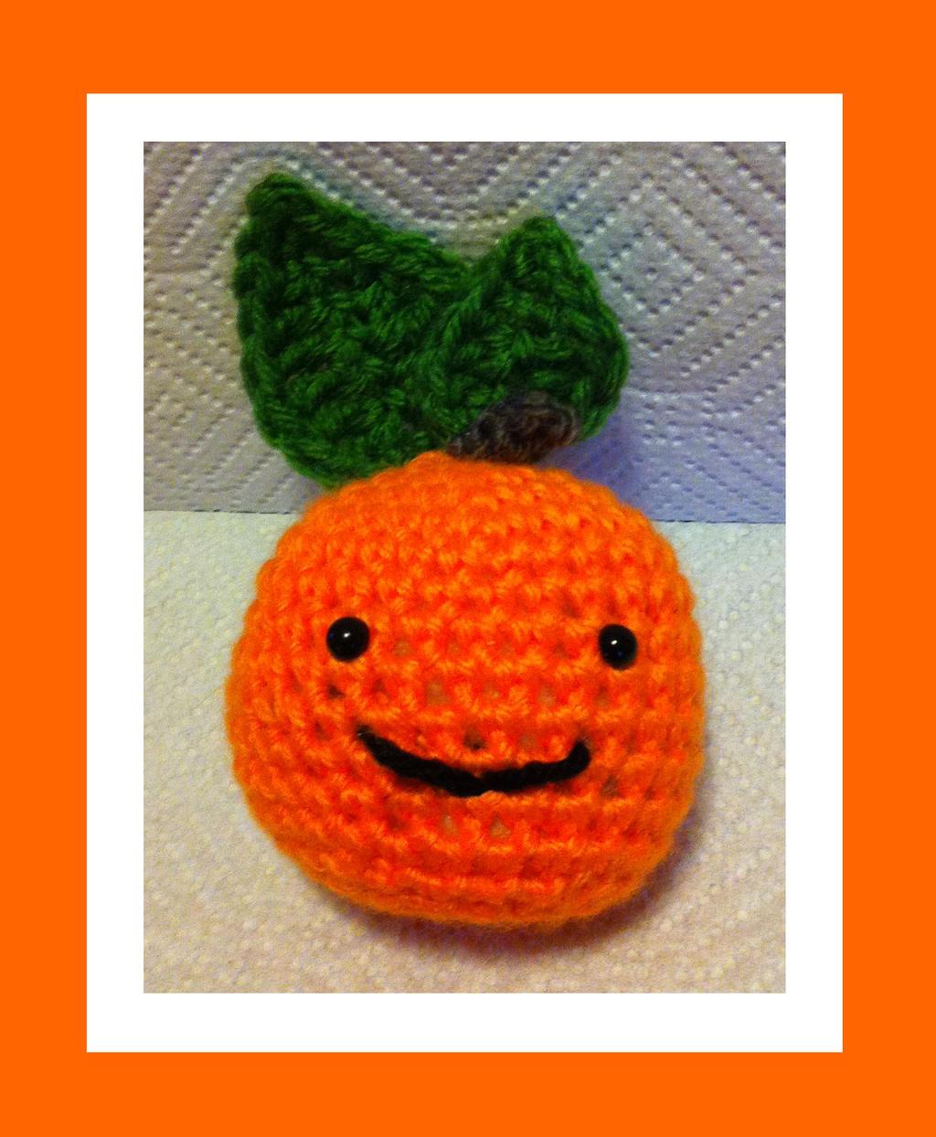 Peelable Orange Amigurumi : Orange Amigurumi by DarkWater9 on DeviantArt