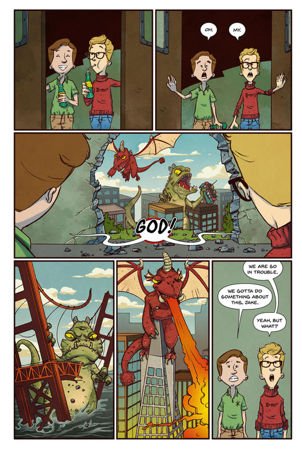 BIG PROBLEMS, BIG SOLUTIONS page 3 (lettered) by dreyes811