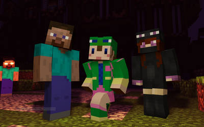 Minecraft:Steve,Rana and Andr by Danlix68
