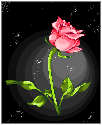 Simple rose by assclownfish on deviantart for Easy way to paint a rose
