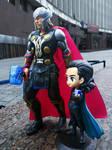 Thor and Loki Figure. Hasbro Toys by Rabies-Lyssavirus