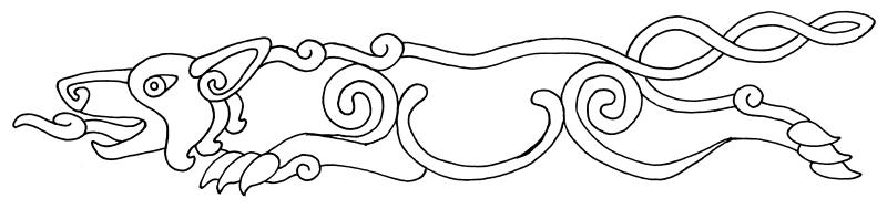 Celtic-Pictish Wolf Ink Design by Scyndariel