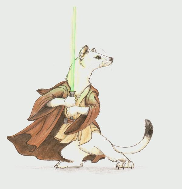 Ermine Jedi by Scyndariel