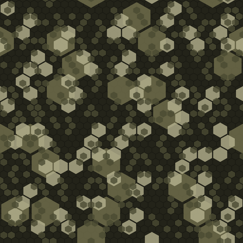 Hexatal Camo Consept -Seamless by black-light-studio on