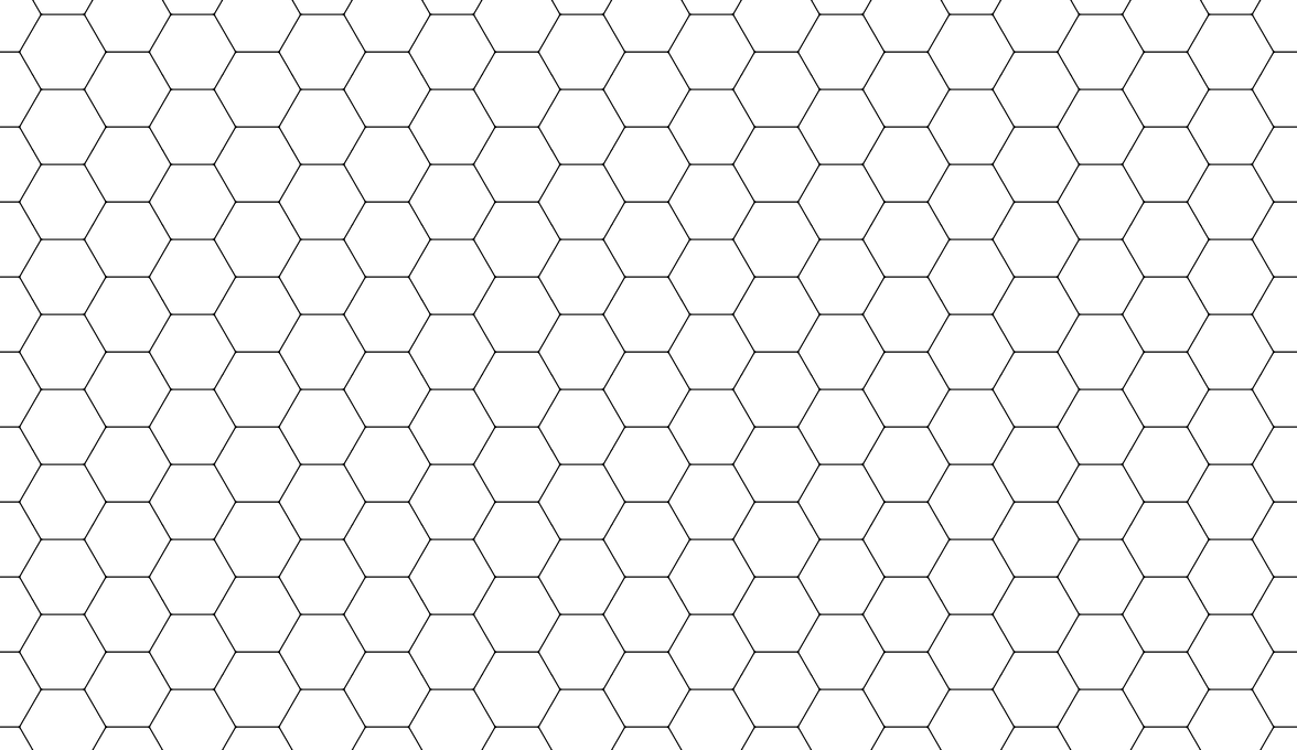 how to draw a hexagonal net