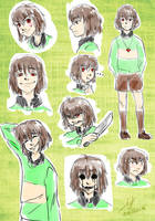 Chara Undertale Sketch #4 by Eleo-choco