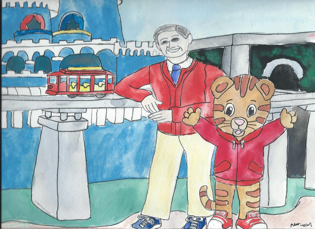 Mr Rogers And Daniel Tiger By Merrittwilson On Deviantart
