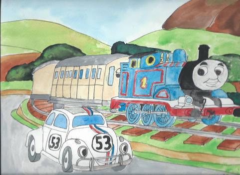 Thomas the Tank Engine vs Herbie the Love Bug