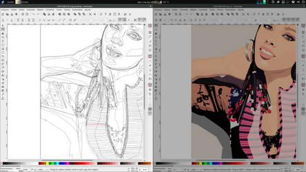Inkscape outline by xterminador