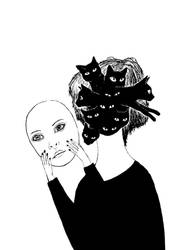 Crazy cat lady by werepine