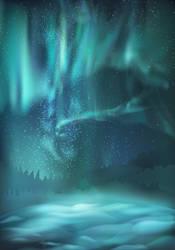Vector northern lights by werepine