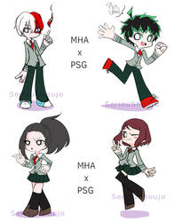 FanArt - BNHA best kids but it's in PSG style by SeriouShoujo