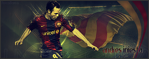 Andres Iniesta by ForcaBarca