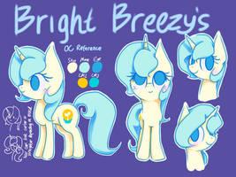 Bright Breezy's OC reference by ItsmeBrizy