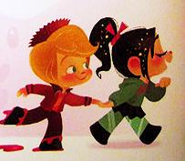 Vanellope and Rancis by AriCandee