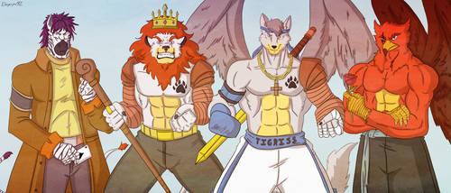 Comision: Tigriss, Bleed, Aleking y Aaron by eloyoya92