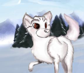 Snowie the fox by Javatan