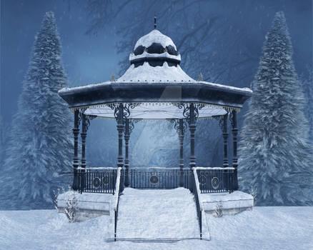 Snow Covered Gazebo