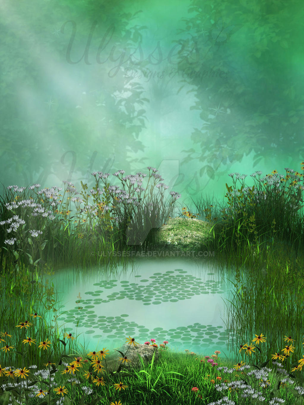 Magical Pond By Ulyssesfae On Deviantart