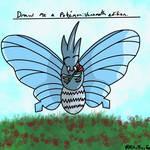 Draw me a Pokemon: Venomoth Edition. by KitTheFeef