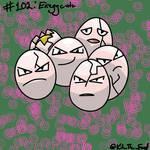 #102: Exeggcute by KitTheFeef