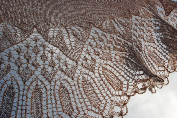 Hand Knit Wedding Lace Shawl by NitkaAG