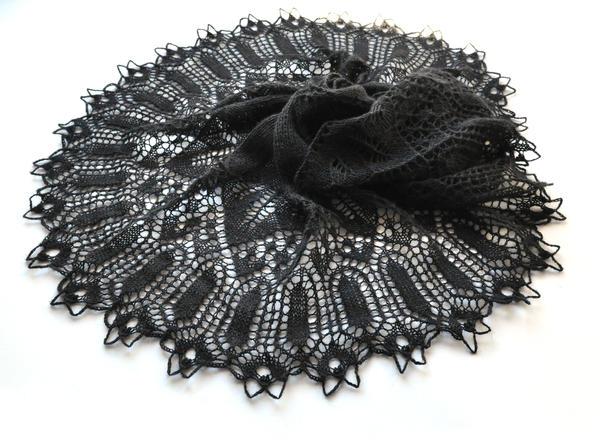 Black lace shawl by NitkaAG