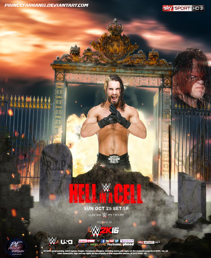 WWE Hell In A Cell 2015 Poster by princefarhan22