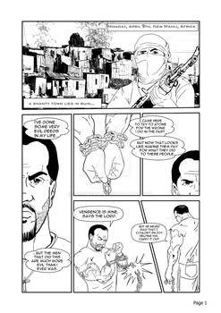 Test page for my graphic novel titled Evil Deeds