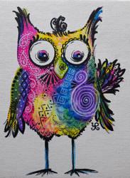 Crazy Owl by yvonnelamberty