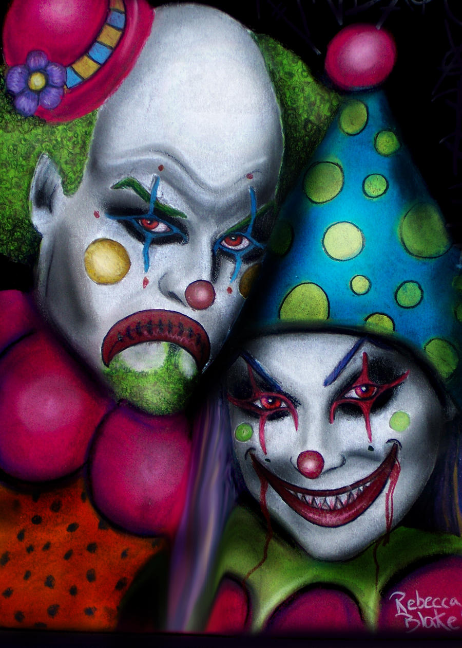 Scary Clowns by Pixie-Lyrique