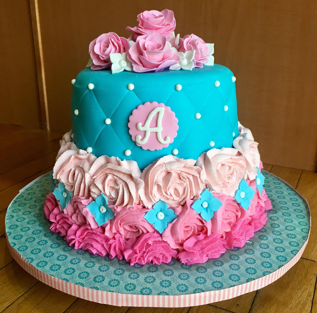 how to make rose swirl cake