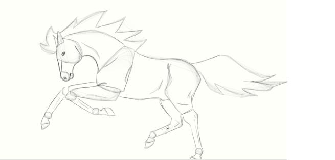 My graphic horse.... by kunamas-spirit
