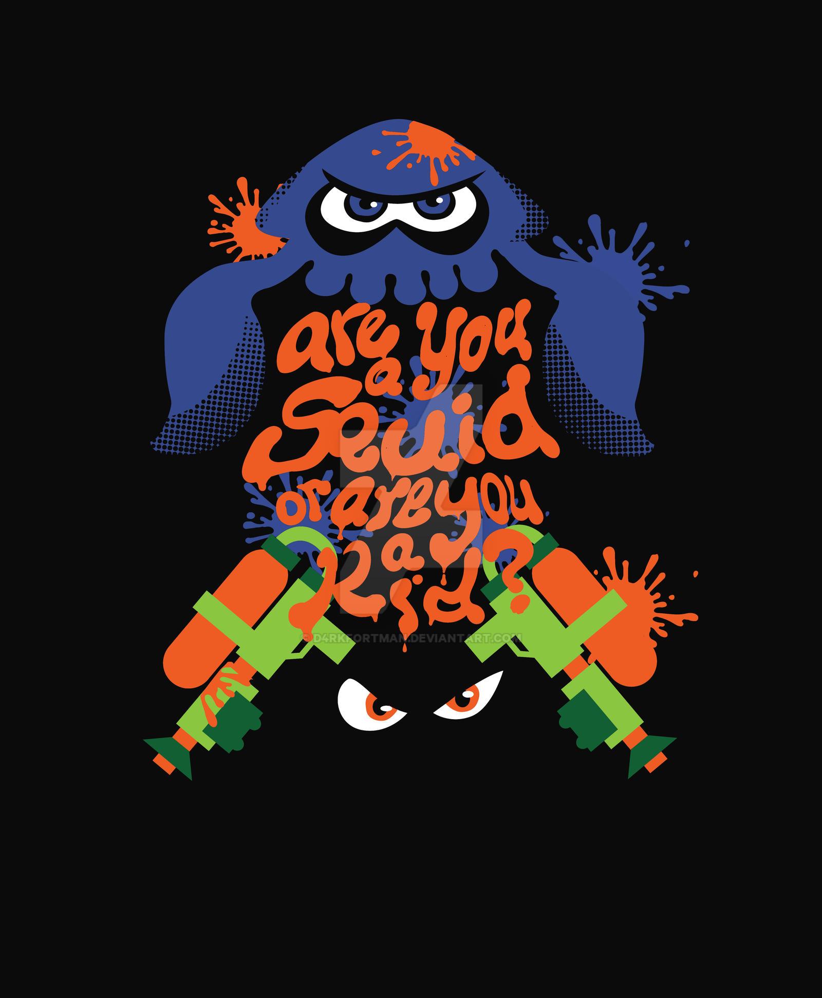 Shirt design graphics -  Splatoon T Shirt Design By D4rkfortman