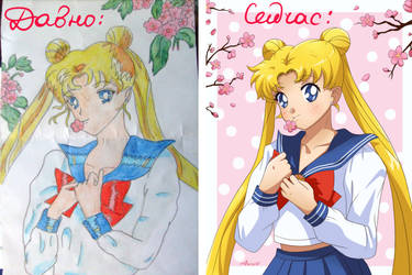 Before and After Usagi by NemuShiffer