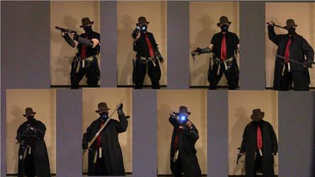 Dreamshade cosplay muti-weapon pose