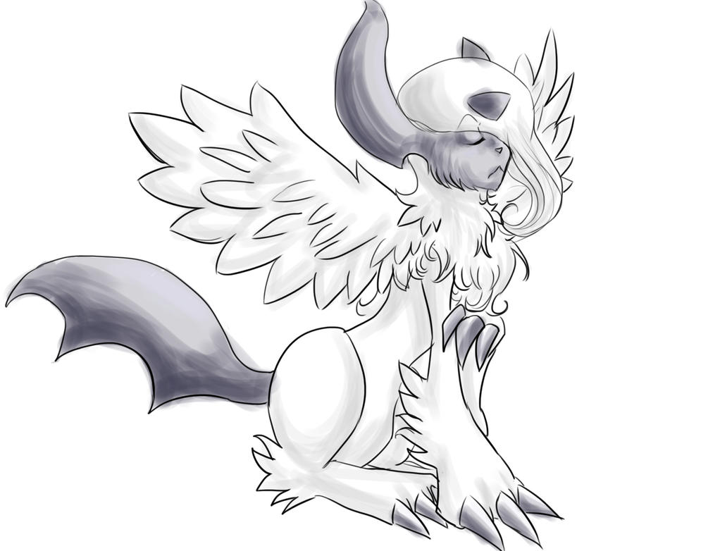 coloring pages absol - photo#35
