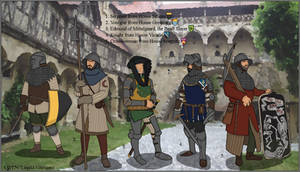 A World of Warriors - Mittelhelm men-at-arms